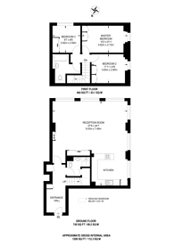 Large floorplan for Oppidan Apartments,, West Hampstead, NW6