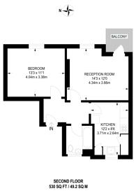 Large floorplan for Thoresby Street, Islington, N1