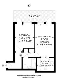 Large floorplan for The Virdian, Battersea, SW8