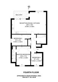 Large floorplan for Murphy Street, Waterloo, SE1