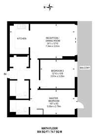 Large floorplan for The River Gardens, East Greenwich, SE10