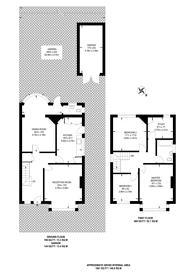Large floorplan for Upper Teddington Road, Hampton Wick, KT1