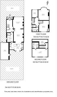 Large floorplan for Gunnersbury Avenue, Acton, W3