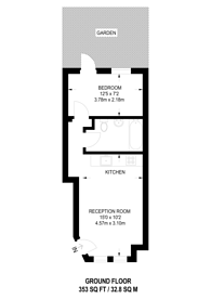 Large floorplan for West Gardens, SW17, Colliers Wood, SW17