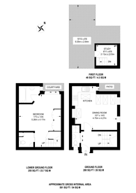 Large floorplan for Richards Place, Knightsbridge, SW3