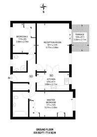 Large floorplan for Woodside Park, Woodside Park, N12