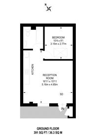 Large floorplan for North Birkbeck Road, Leyton, E11