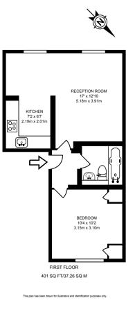 Large floorplan for Finborough Road, Earls Court, SW10