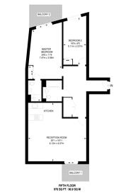 Large floorplan for Tequila Wharf, E14, Limehouse, E14