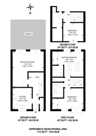 Large floorplan for Betjeman Mews, Islington, N5