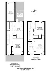 Large floorplan for Arabella Drive, Putney, SW15