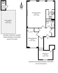 Large floorplan for Collingham Place, South Kensington, SW5