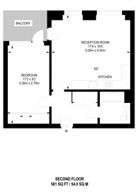 Large floorplan for Sailors House, E14, Canary Wharf, E14