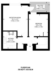 Large floorplan for Wilton road, Pimlico, SW1V
