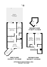 Large floorplan for Stockwell Park Road, Brixton, SW9