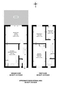 Large floorplan for Rye Close, Guildford, GU2