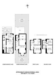 Large floorplan for De Beauvoir Square, Islington, N1