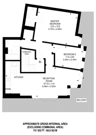 Large floorplan for Echo Heights, Chingford, E4