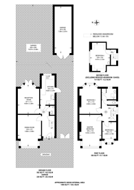 Large floorplan for Manor Drive North, New Malden, KT3