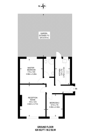 Large floorplan for St Davids Close, Wembley Park, HA9