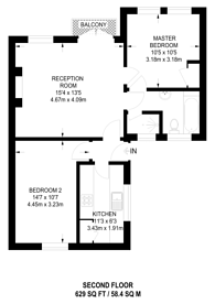 Large floorplan for Hortensia Road, Chelsea, SW10