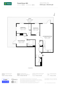 Large floorplan for Tizzard Grove, Kidbrooke, SE3