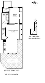 Large floorplan for Torriano Avenue, Kentish Town, NW5