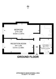 Large floorplan for Robin Hood Lane, Sutton, SM1