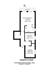 Large floorplan for Waterson Street, Hackney, E2