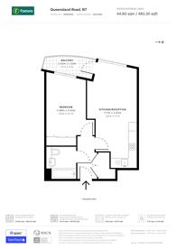 Large floorplan for Queensland Road, Islington, N7