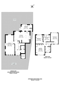 Large floorplan for Anglesmede Crescent, Pinner, HA5