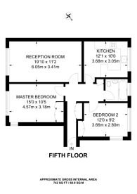 Large floorplan for Holly Tree Close, Southfields, SW19
