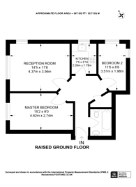 Large floorplan for Sutton Square, Hackney, E9