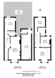 Large floorplan for St Albans Avenue, Chiswick, W4