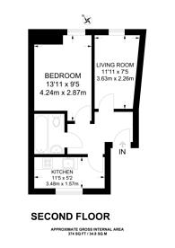 Large floorplan for Hoe Street, Walthamstow, E17