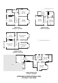 Large floorplan for Rusholme Road, Putney Heath, SW15