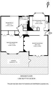 Large floorplan for Cottenham Park Road, West Wimbledon, SW20