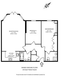 Large floorplan for Chapman Square, Wimbledon, SW19