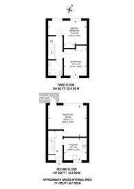 Large floorplan for Boone Street, SE13, Lewisham, SE13