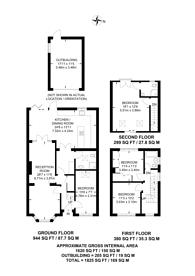 Large floorplan for Common Lane, KT15, New Haw, KT15