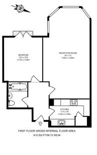 Large floorplan for Poseidon Court, Canary Wharf, E14