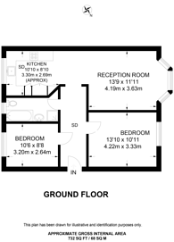 Large floorplan for Toby Way, Tolworth, KT5
