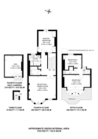 Large floorplan for Tite Street, Chelsea, Chelsea, SW3