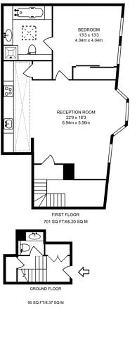 Large floorplan for Vantage Place, High Street Kensington, W8