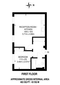 Large floorplan for Bromyard Avenue, Acton, W3