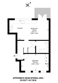 Large floorplan for Claret Court, Croydon, CR0