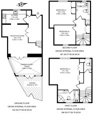 Large floorplan for Harwood Mews, Fulham Broadway, SW6