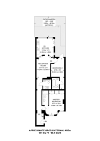 Large floorplan for Tite Street, Chelsea, SW3