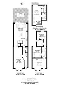 Large floorplan for Edgarley Terrace, Bishop's Park, SW6