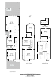Large floorplan for Bernard Gardens,, Wimbledon, SW19